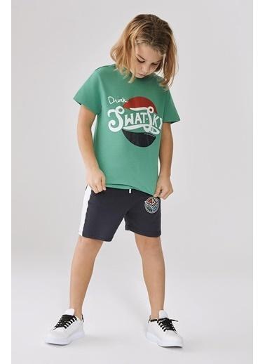 Swatsky Erkek Çocuk Yeşil T-Shirt Yeşil